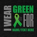 Green Awareness Ribbon Customized T-Shirt