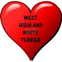 west highland white terrier heart T-Shirt