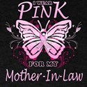 I Wear Pink For My Mother In Law Butterfly T-Shirt