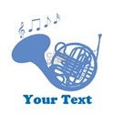 French Horn Customized White T-Shirt