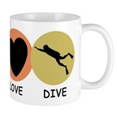 Peace Love Dive Mug