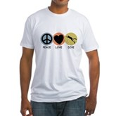 Peace Love Dive Fitted T-Shirt