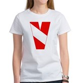 Scuba Flag Letter V Women's T-Shirt