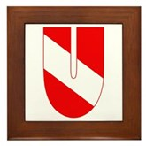 Scuba Flag Letter U Framed Tile