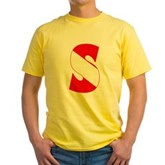 Scuba Flag Letter S Yellow T-Shirt