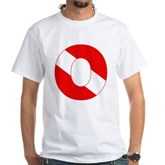 Scuba Flag Letter O White T-Shirt