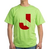 Scuba Flag Letter J Green T-Shirt