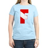 Scuba Flag Letter F Women's Light T-Shirt