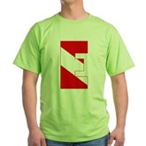 Scuba Flag Letter E Green T-Shirt