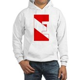 Scuba Flag Letter E Hooded Sweatshirt