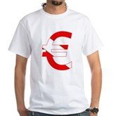 Scuba Flag Euro Sign White T-Shirt