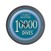 10000 Dives Milestone Wall Clock