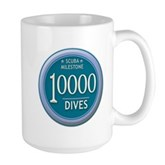 10000 Dives Milestone Large Mug