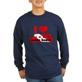 I Love Cattle Boats Long Sleeve Dark T-Shirt