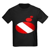 Thought Bubble Dive Flag Kids Dark T-Shirt