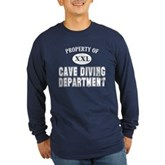 Cave Diving Department Long Sleeve Dark T-Shirt