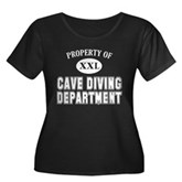 Cave Diving Department Women's Plus Size Scoop Nec
