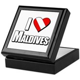 Scuba: I Love Maldives Keepsake Box