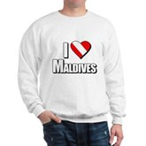 Scuba: I Love Maldives Sweatshirt