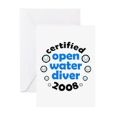 Open Water Diver 2008 Greeting Card