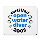 Open Water Diver 2008 Mousepad