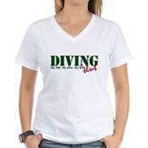 Diving Slut Women's V-Neck T-Shirt