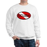 Scuba Oval Dive Flag Sweatshirt