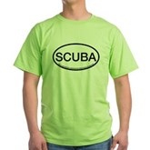 Scuba Oval Green T-Shirt