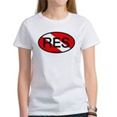 RES Oval Scuba Flag Women's T-Shirt