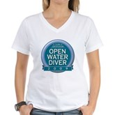 Open Water Diver 2009 Women's V-Neck T-Shirt