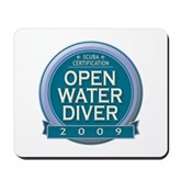 Open Water Diver 2009 Mousepad