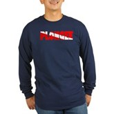 Plongee French Scuba Flag Long Sleeve Dark T-Shirt