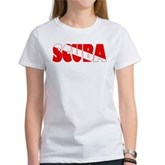 Scuba Text Flag Women's T-Shirt