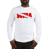 Scuba Text Flag Long Sleeve T-Shirt