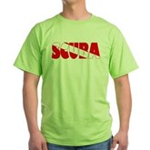 Scuba Text Flag Green T-Shirt