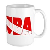 Scuba Text Flag Large Mug