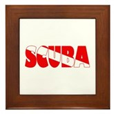 Scuba Text Flag Framed Tile