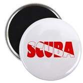 Scuba Text Flag Magnet