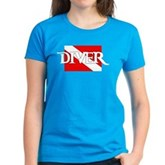 Pirate-style Diver Flag Women's Dark T-Shirt