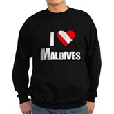 Scuba: I Love Maldives Sweatshirt (dark)