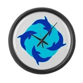 Dolphin Ring Large Wall Clock