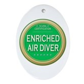Certified Nitrox Diver Oval Ornament