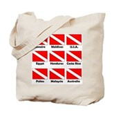 Dive Flags of the World Tote Bag