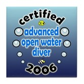 Certified AOW Diver 2006 Tile Coaster
